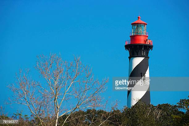 Low angle view of a lighthouse, St. Augustine Lighthouse And Museum, St. Augustine, Florida, USA
