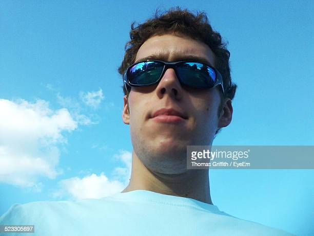 low angle view of a man - one man only stock pictures, royalty-free photos & images