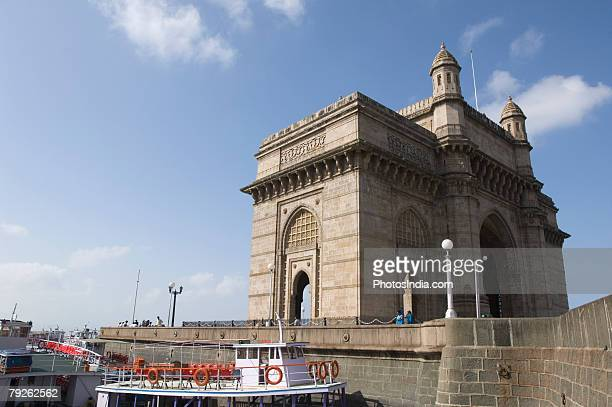 'Low angle view of a monument, Gateway of India, Mumbai, Maharashtra, India'