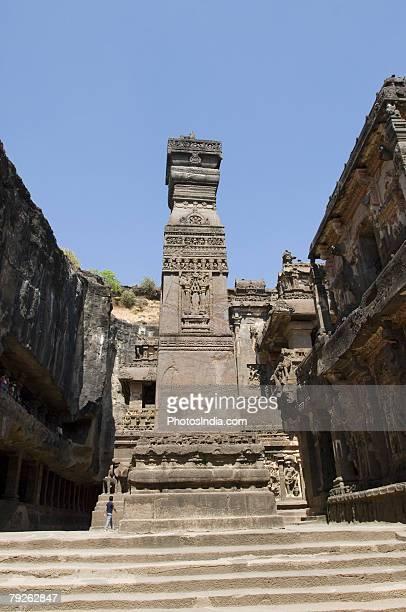 """Low angle view of a monument, Kailash Temple, Ellora, Aurangabad, Maharashtra, India"""