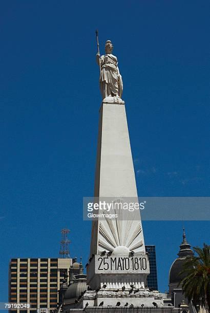 Low angle view of a monument, Piramide De Mayo, Plaza De Mayo, Barrio De Monserrat, Buenos Aires, Argentina