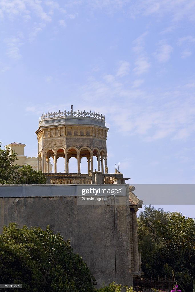 Low angle view of a palace, Nice, France : Foto de stock
