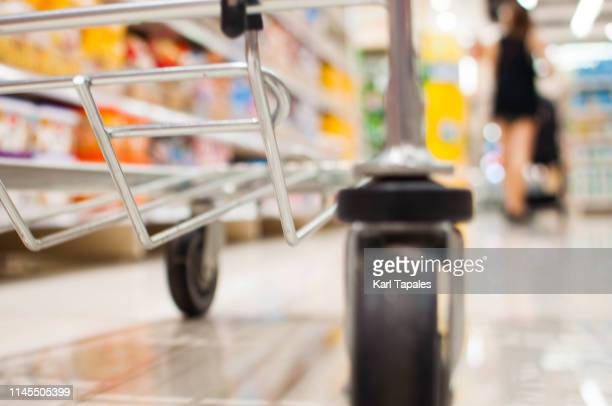 a low angle view of a pushcart - shopping cart stock pictures, royalty-free photos & images