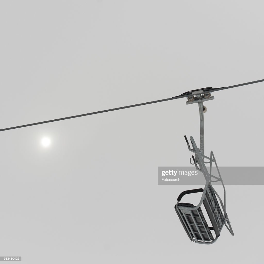 Low angle view of a ski lift : Stock Photo