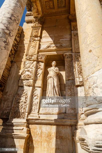 low angle view of a statue - ephesus stock pictures, royalty-free photos & images