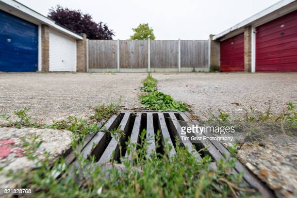 Low Angle View of a Storm Drain Grate
