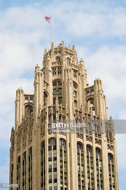Low angle view of a tower, Chicago Tribune Tower, Chicago, Illinois, USA