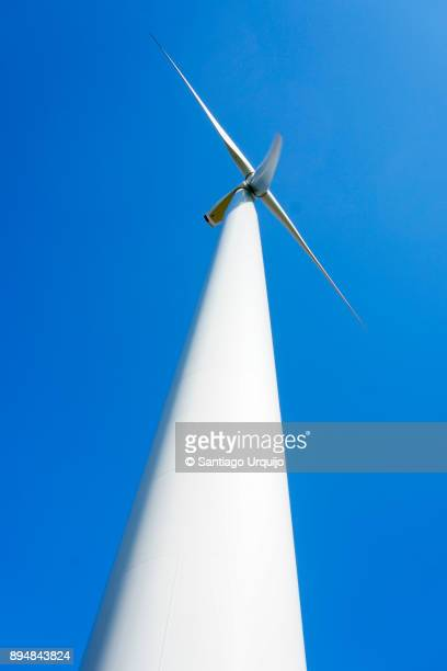 Low angle view of a wind turbine