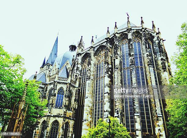 Low Angle View Of Aachen Cathedral Against Sky