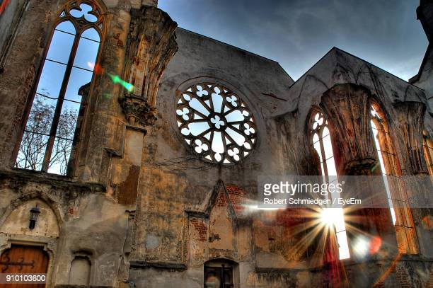 Low Angle View Of Abandoned Cathedral