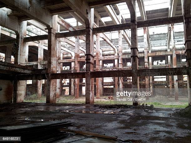 low angle view of abandoned industry - run down stock pictures, royalty-free photos & images