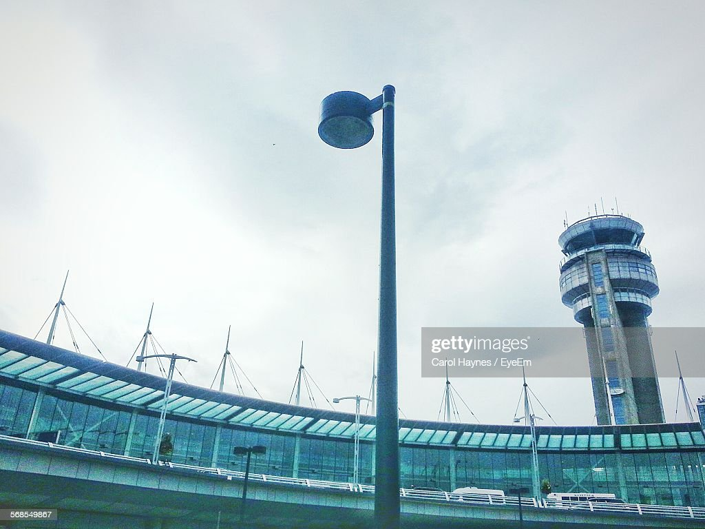 Low Angle View Of Airport Against Sky : Stock Photo
