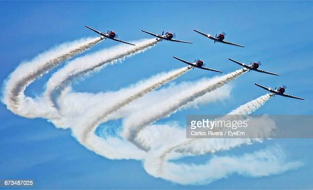 low angle view of airshow - arrangement stock pictures, royalty-free photos & images
