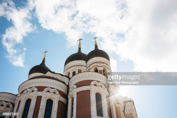 Low angle view of Alexander Nevsky Cathedral, Tallinn, Estonia