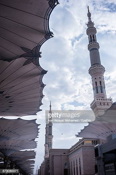 Low Angle View Of Al-Masjid An-Nabawi Against Cloudy Sky