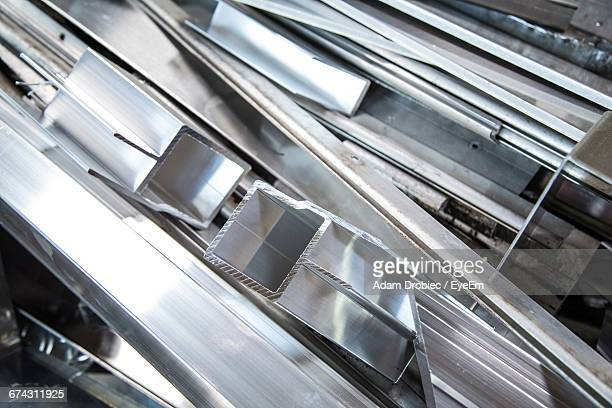 Low Angle View Of Aluminium Parts