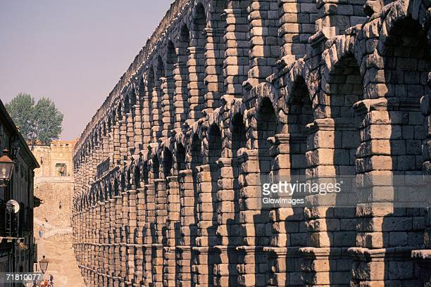 Low angle view of an aqueduct, Segovia, Spain