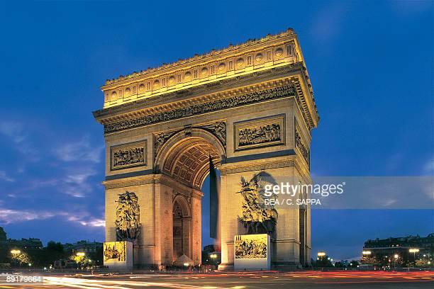 Low angle view of an arch Arc De Triomphe Paris France