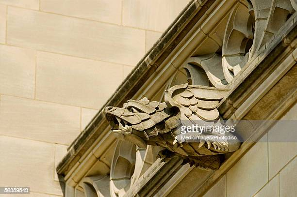 Low angle view of an eagle gargoyle, National Cathedral, Washington DC, USA