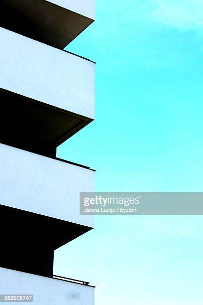 Low Angle View Of Apartment Balconies Against Sky