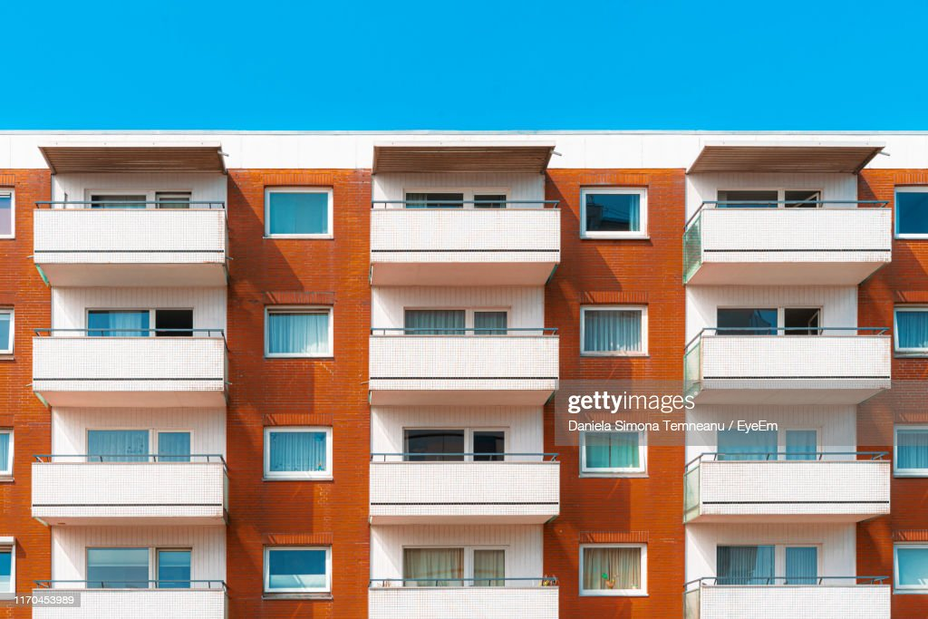 Low Angle View Of Apartment Building : Stock Photo