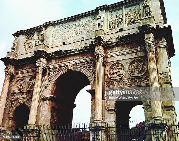 Low Angle View Of Arch Of Constantine