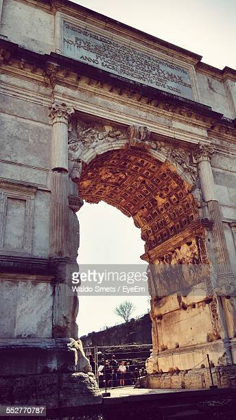 Low Angle View Of Arch Of Titus