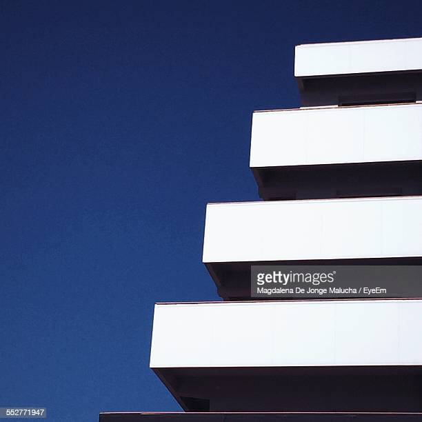 Low Angle View Of Architectural Feature Against Clear Blue Sky