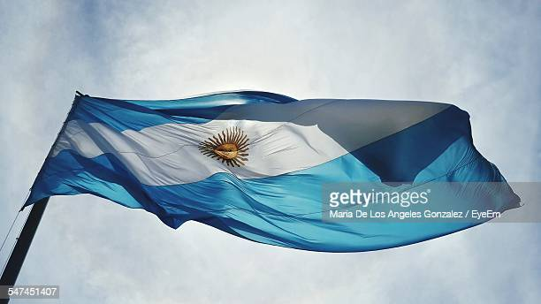 Low Angle View Of Argentinean Flag