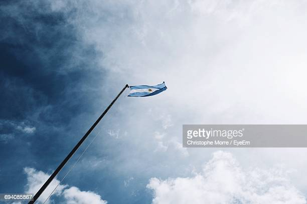Low Angle View Of Argentinian Flag