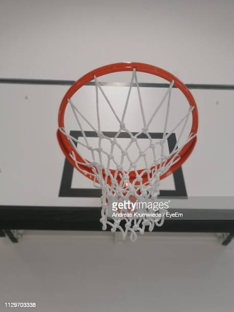 Low Angle View Of Basketball Hoop