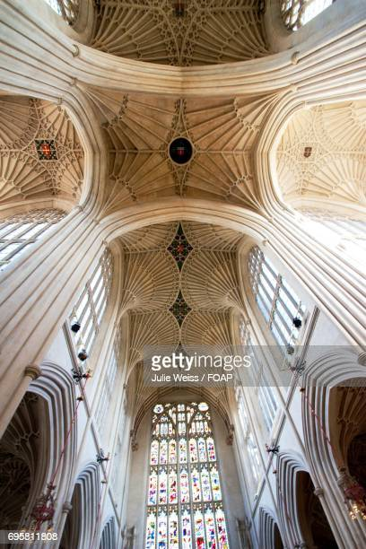 Low angle view of bath abbey
