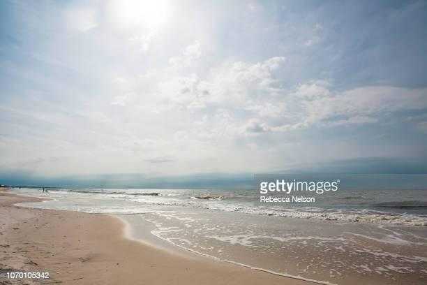 low angle view of beach in Dauphin Island, Alabama