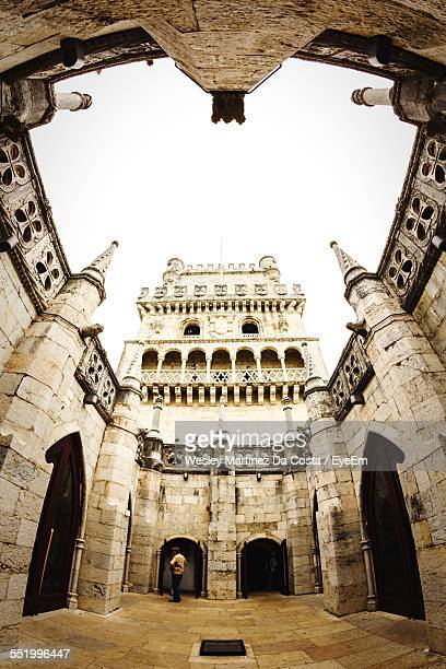 Low Angle View Of Belem Tower