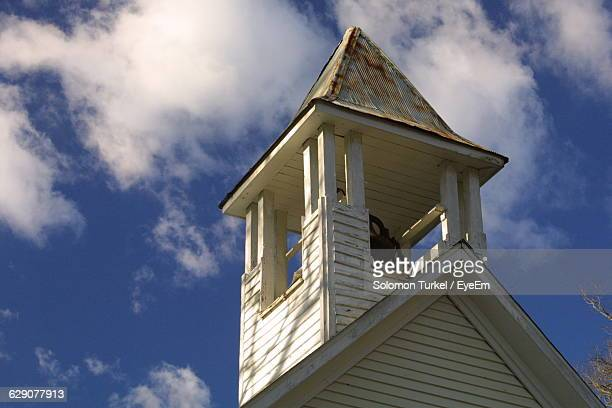 low angle view of bell tower against sky - solomon turkel stock pictures, royalty-free photos & images