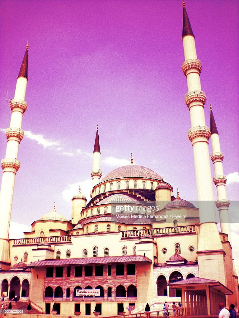 Low Angle View Of Blue Mosque : Foto stock