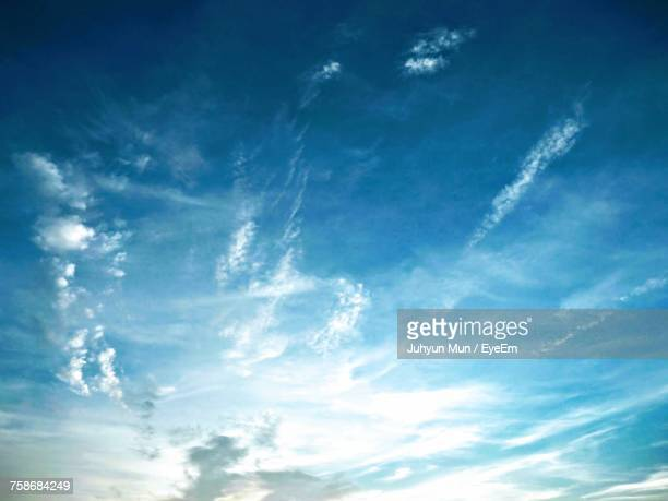 low angle view of blue sky - dramatic sky stock pictures, royalty-free photos & images