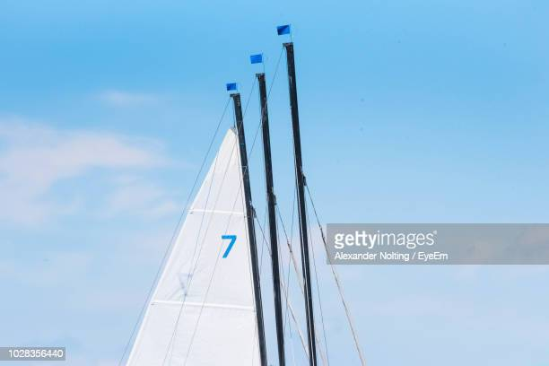Low Angle View Of Boat Mast Against Sky