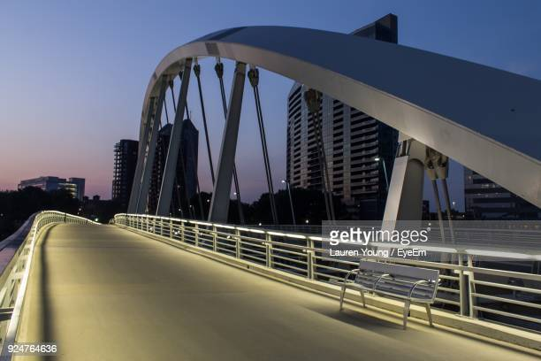 low angle view of bridge against clear sky - columbus ohio stock pictures, royalty-free photos & images