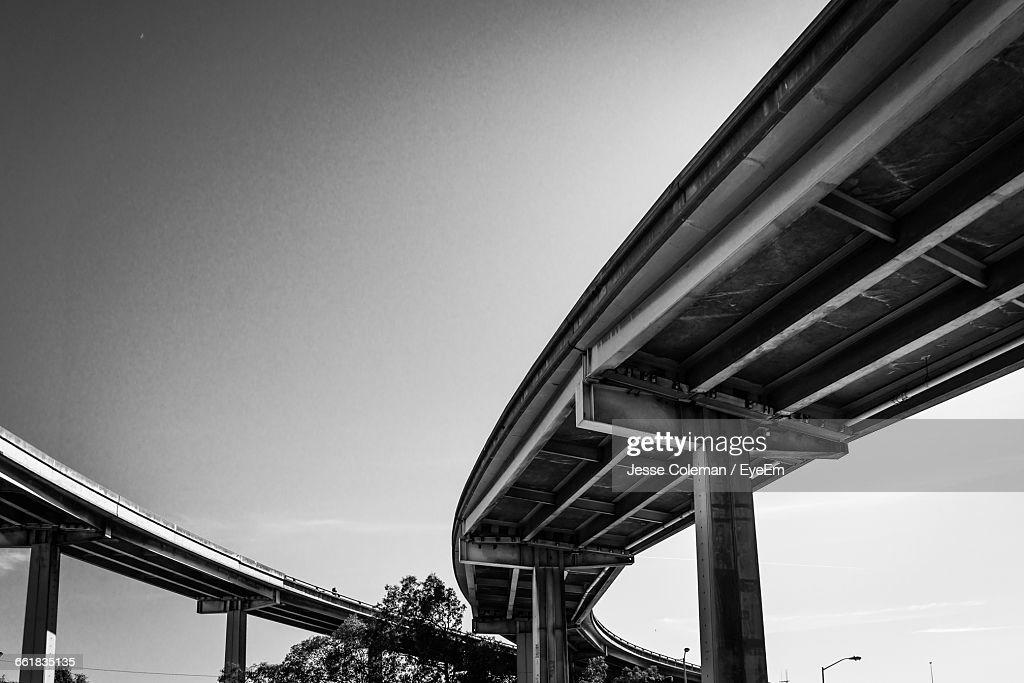 Low Angle View Of Bridge Against Sky : Stock Photo