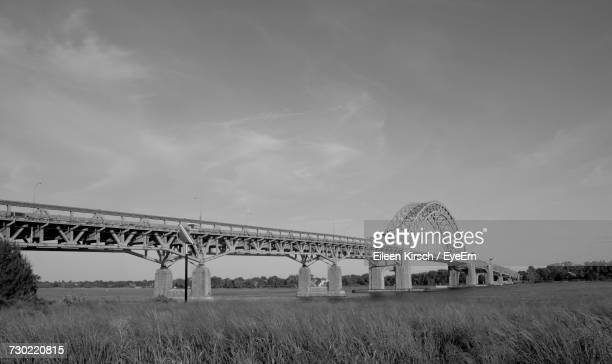 low angle view of bridge against sky - eileen kirsch stock pictures, royalty-free photos & images