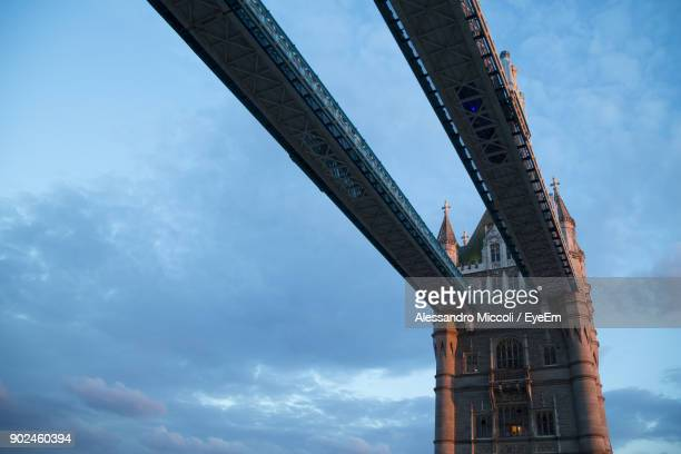 low angle view of bridge against sky - alessandro miccoli stockfoto's en -beelden