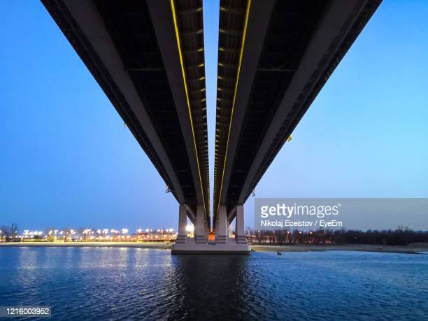 low angle view of bridge over river - rostov on don stock pictures, royalty-free photos & images