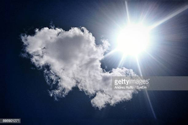 low angle view of bright sun - andres ruffo stock-fotos und bilder
