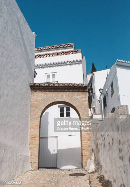 low angle view of building against clear blue sky - bortes stock pictures, royalty-free photos & images