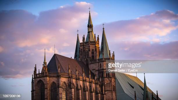 low angle view of building against sky - erfurt stock pictures, royalty-free photos & images