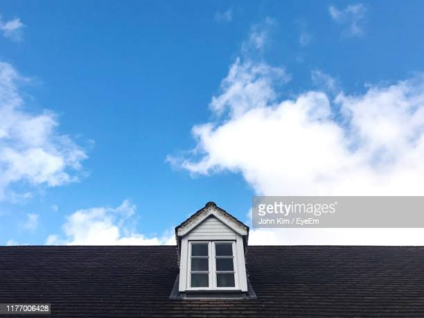 low angle view of building against sky - bicester village stock pictures, royalty-free photos & images