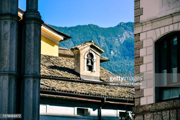 low angle view of building against sky - trento foto e immagini stock