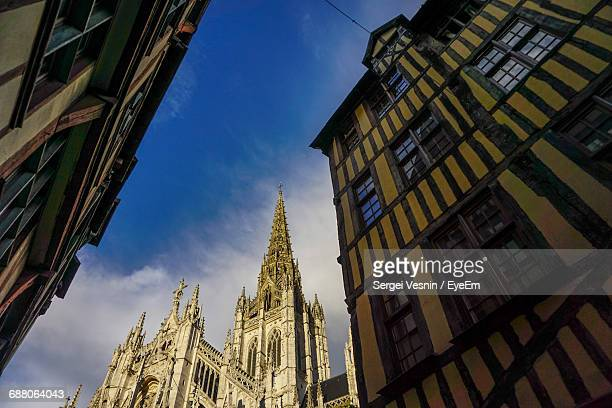 low angle view of building against sky - rouen stock pictures, royalty-free photos & images