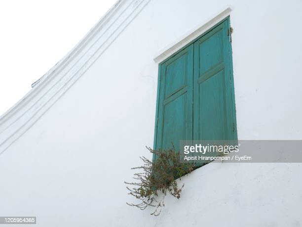 low angle view of building and window - apisit hiranpornpan stock pictures, royalty-free photos & images